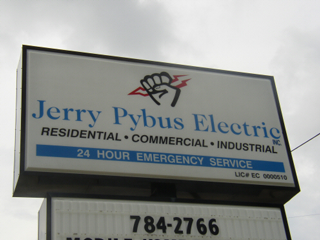 Jerry Pybus Electric Roadway Sign
